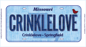 2016 Row x Row License Plate