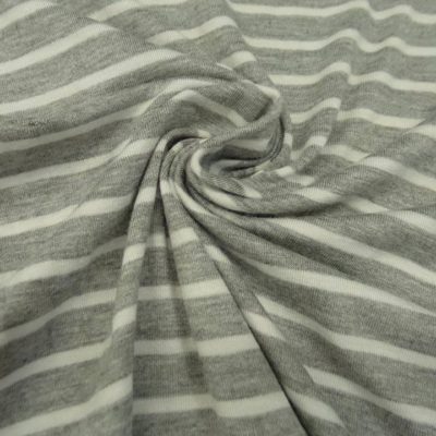Striped Jersey Knit (Heathered Grey/White)