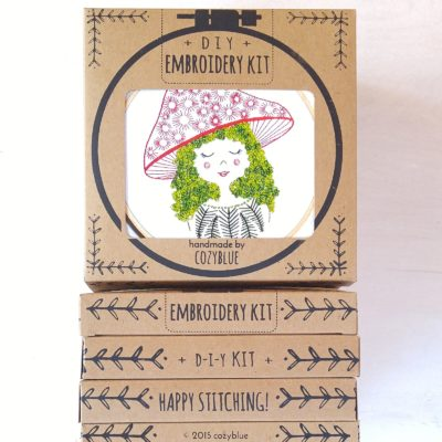 Mushroom Girl DIY Embroidery Kit