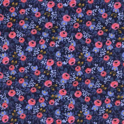 Les Fleurs – Rosa (Navy)