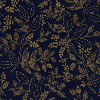 Les Fleurs – Queen Anne (Navy Metallic)