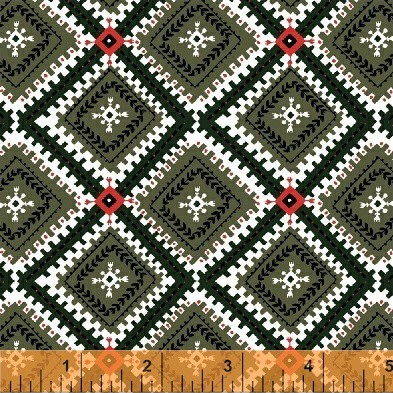 Wild Field – Native Blanket (Olive)